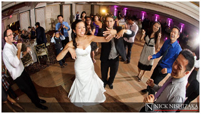 Wedding reception dancing - Flip-it! double-lighting gallery example