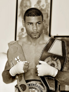 Sepia of boxer - Geoff Roughton, photographer