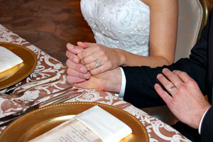 Diffuser Example: Bride and groom hands