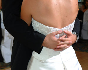 Bride and groom - Flip-it! double-lighting example