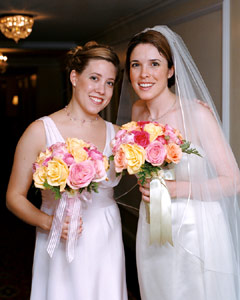 Bride with maid of honor - Flip-it! single-lighting gallery