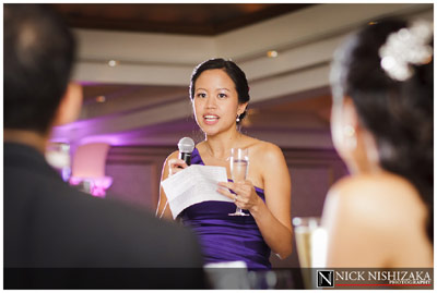 Young woman making toast at wedding - Flip-it! double-lighting gallery example