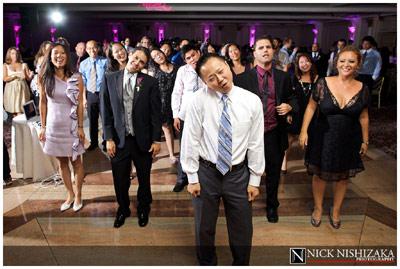 Man dancing at wedding reception - Flip-it! double-lighting gallery example