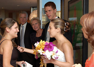Diffuser Example: Bride greeting guest