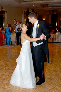 Diffuser Example: Bride and groom dancing