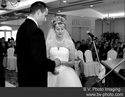 Bride and groom wedding ceremony by B.V. Photo Imaging