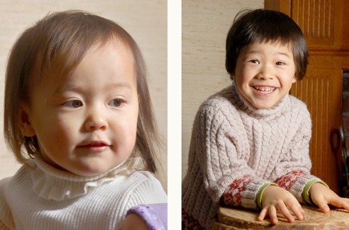 2 Children's portraits using the Demb Portrait Dish