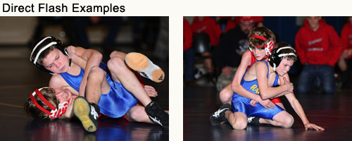 Jerry Sigua: Wrestling images using direct flash