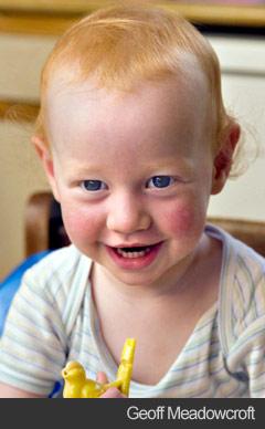 Toddler portrait - Geoff Meadowcroft