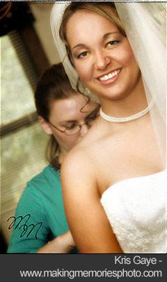 Bride getting ready - Kris Gaye
