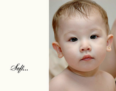 Soft photography with Flip-it! - young baby